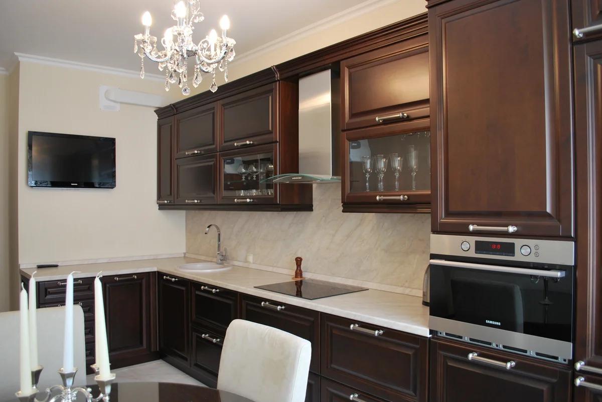 телевизор на кухне высота от пола