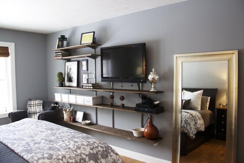 телевизор в спальне фото идеи