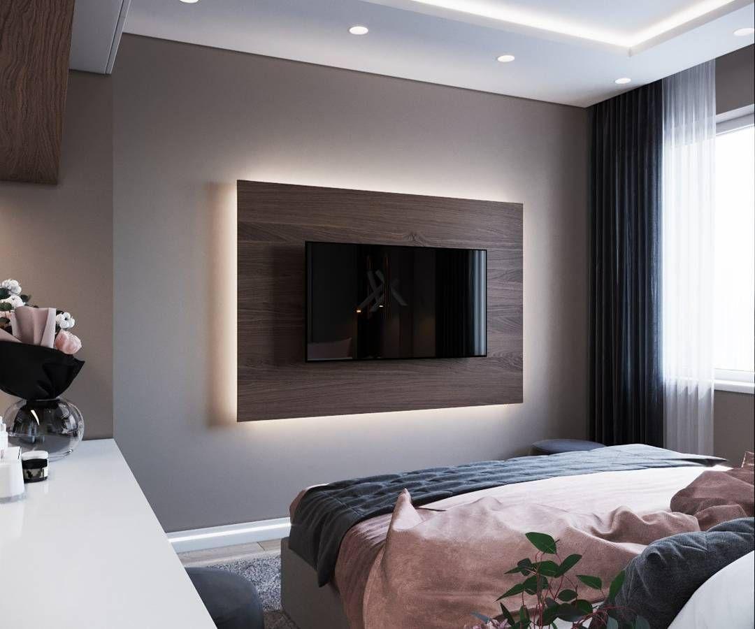 телевизор в спальне средняя высота от пола