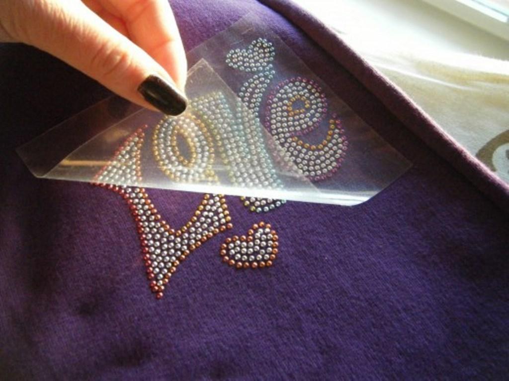 термонаклейки на одежду стразы