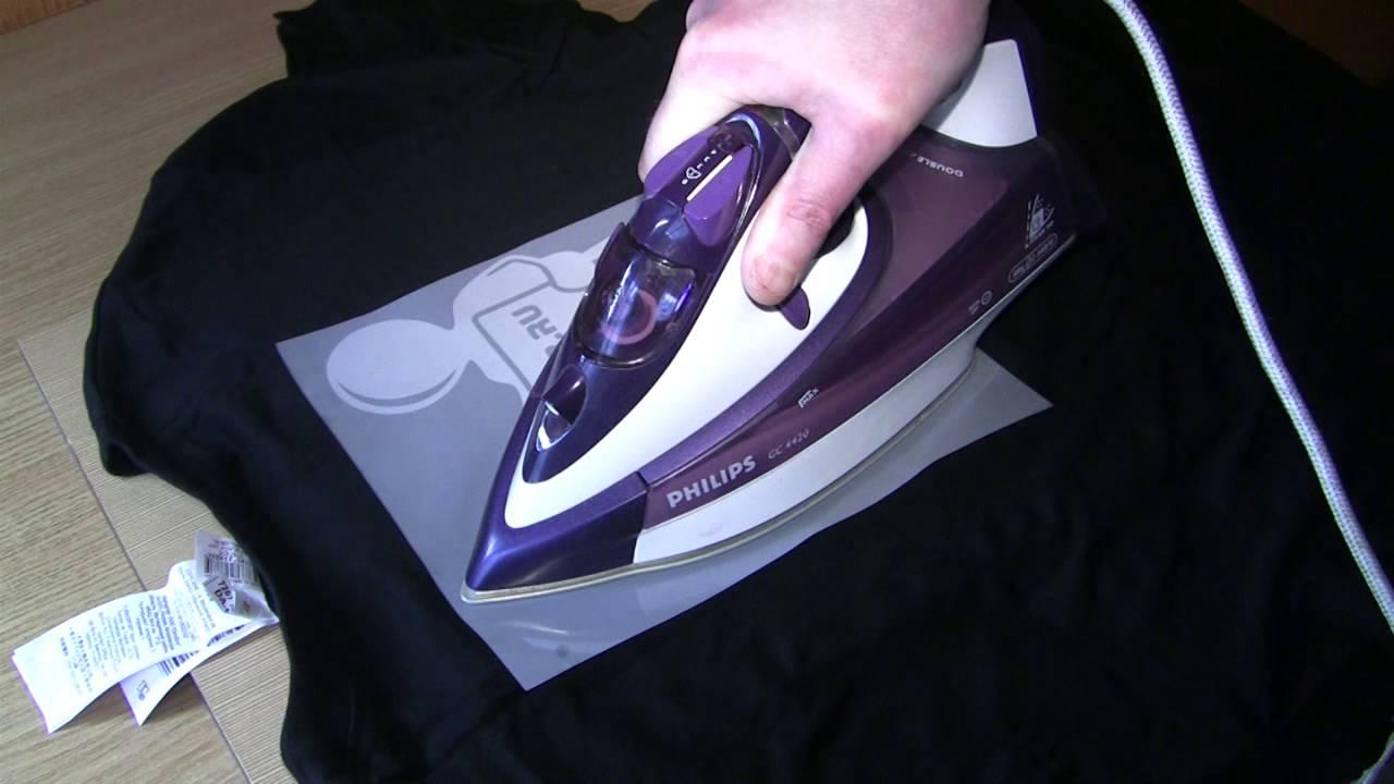 термонаклейки на одежду утюгом
