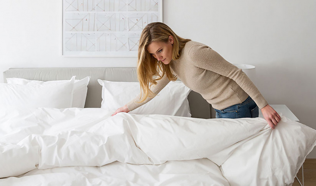 уборка постели