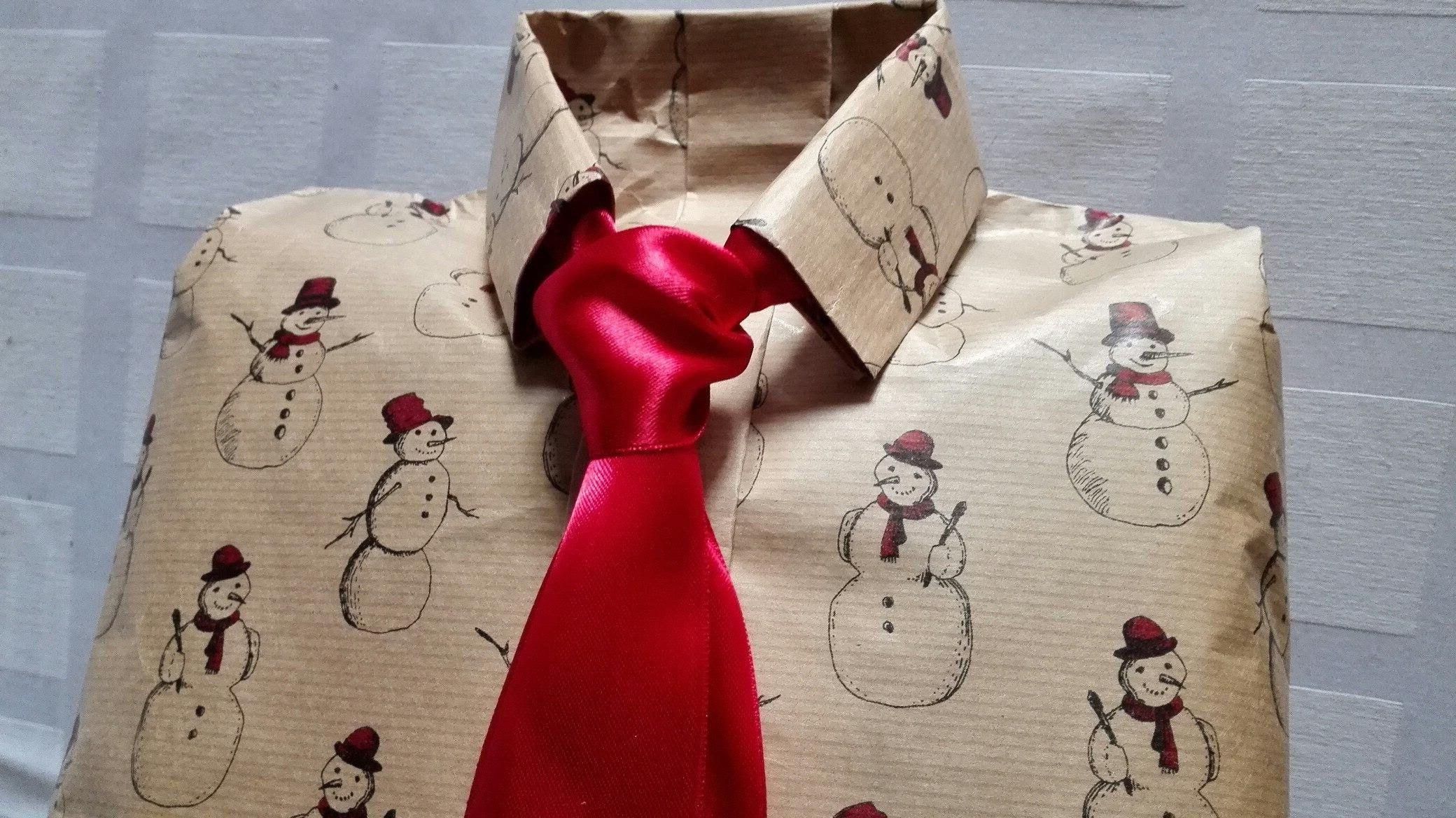 упаковка для подарка рубашки