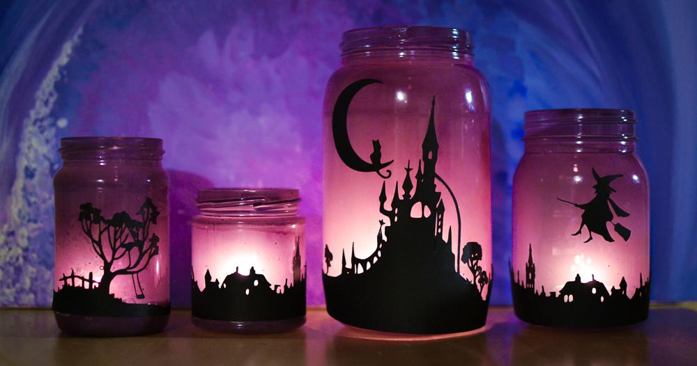 банки светильники на хэллоуин