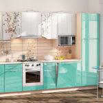 бирюзовый цвет кухни