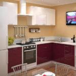бордовый цвет кухни