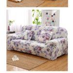 чехол на диван цветастый