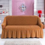 чехол на диван оранжевый