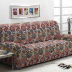 чехол на диван цветной