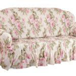 чехол на диван светлые цветы