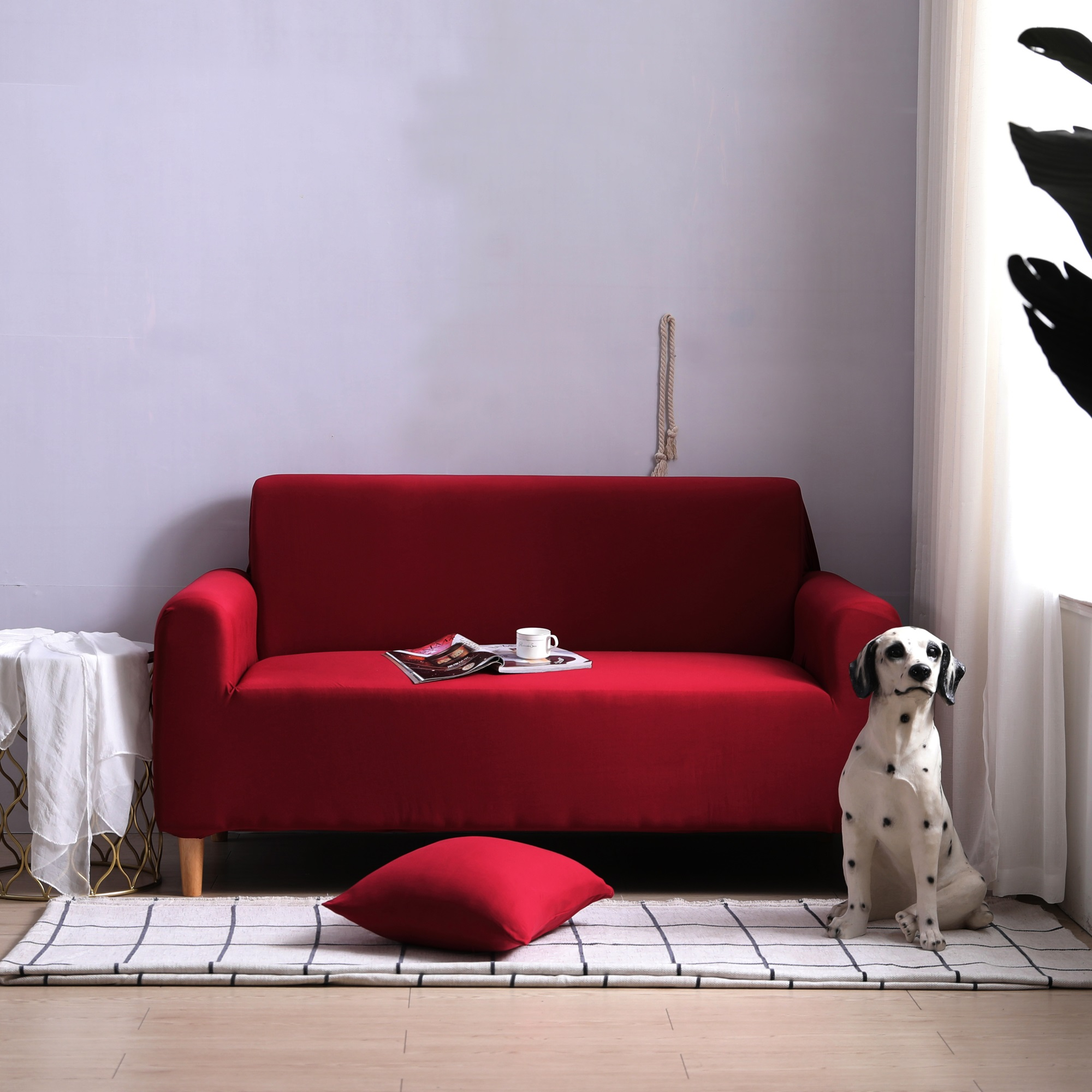 крачный чехол на диван с подушкой