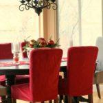 чехол для стула красный малиновый