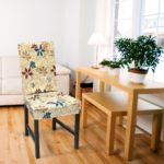 чехол для стула в цветочек