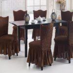 чехол для стула евро коричневый