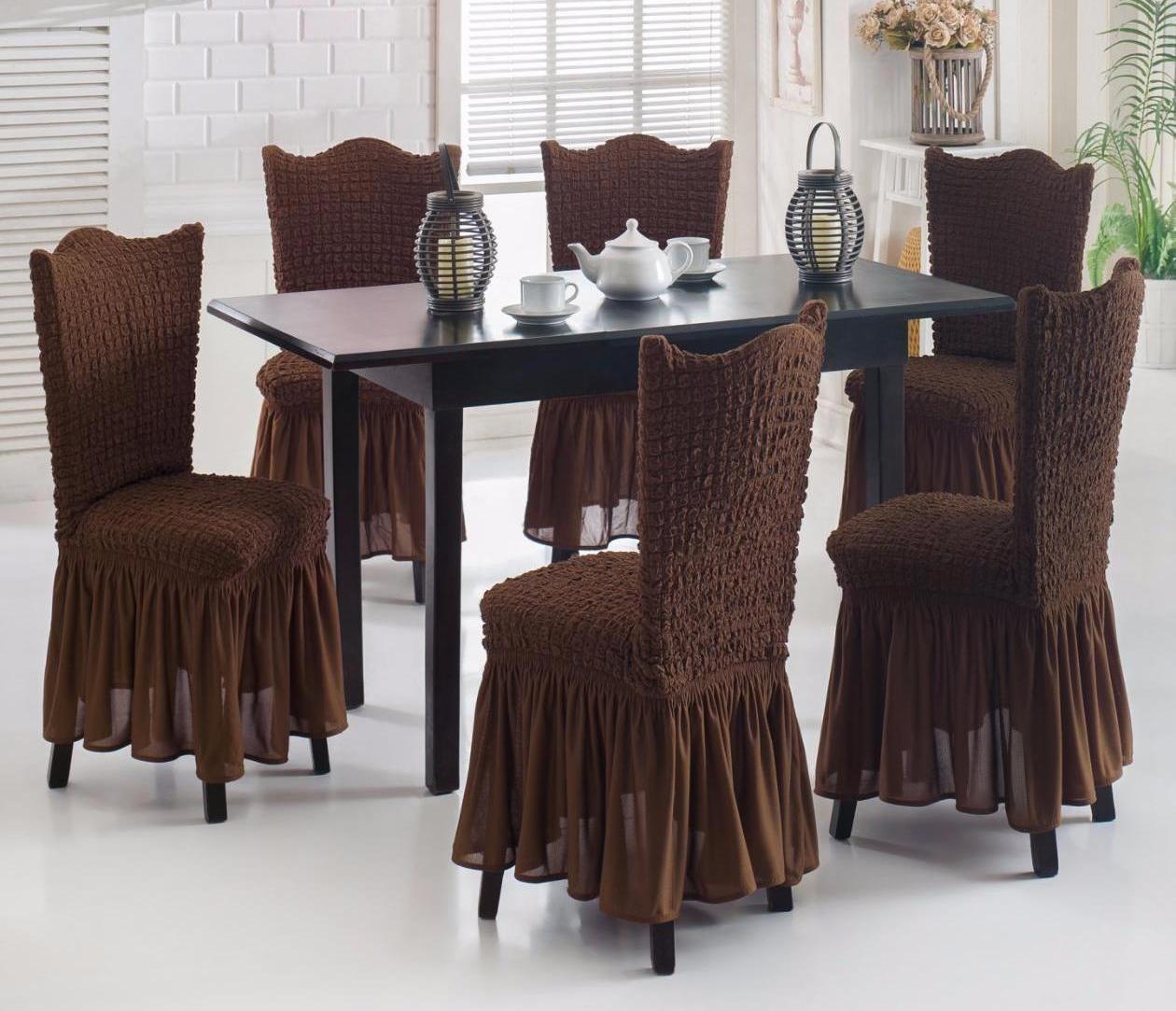 чехлы для стульев в стиле помещения