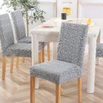 чехол для стула светло-серый