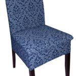 чехол для стула синий с рисунком