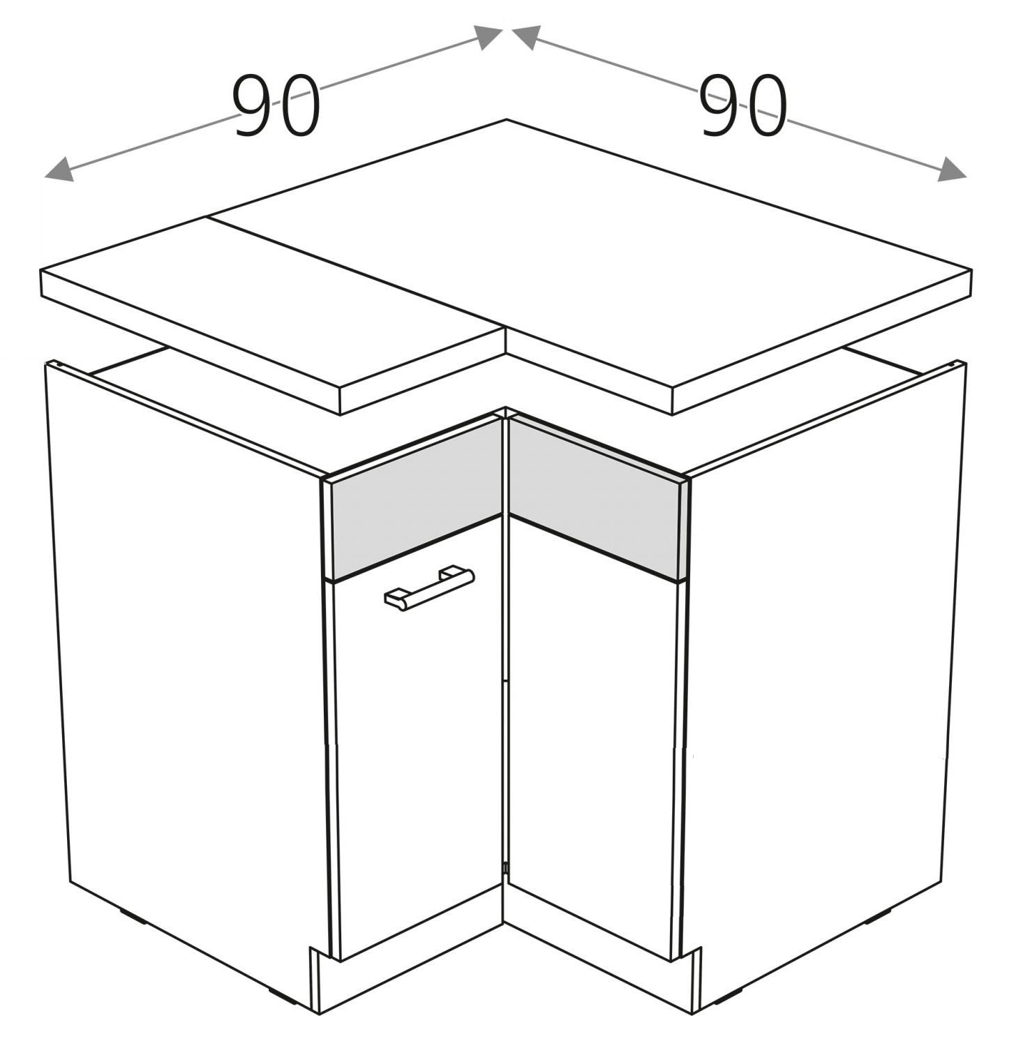 чертеж г-образной тумбы
