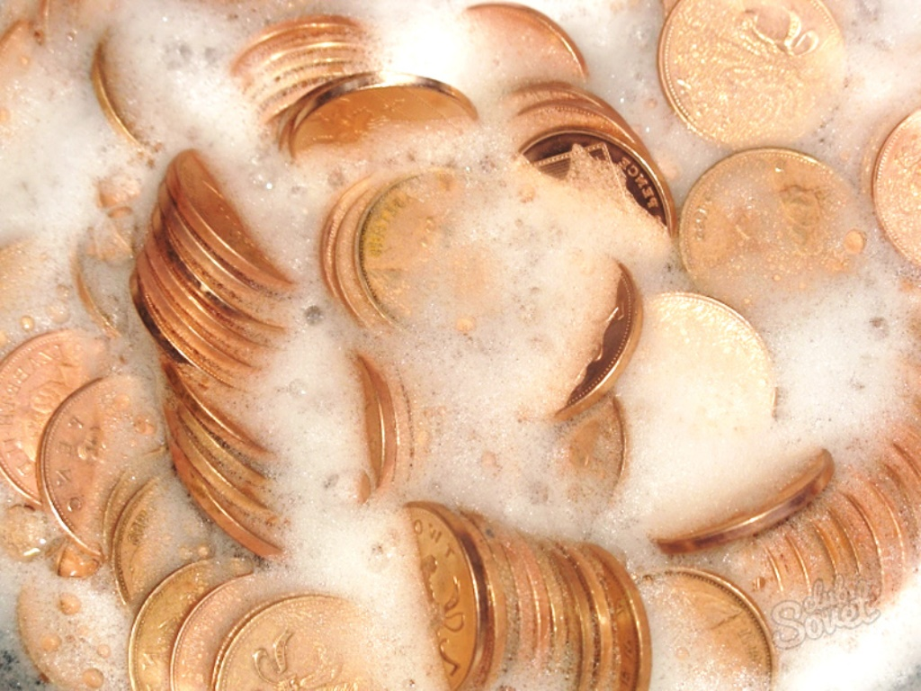 чистка монет фото