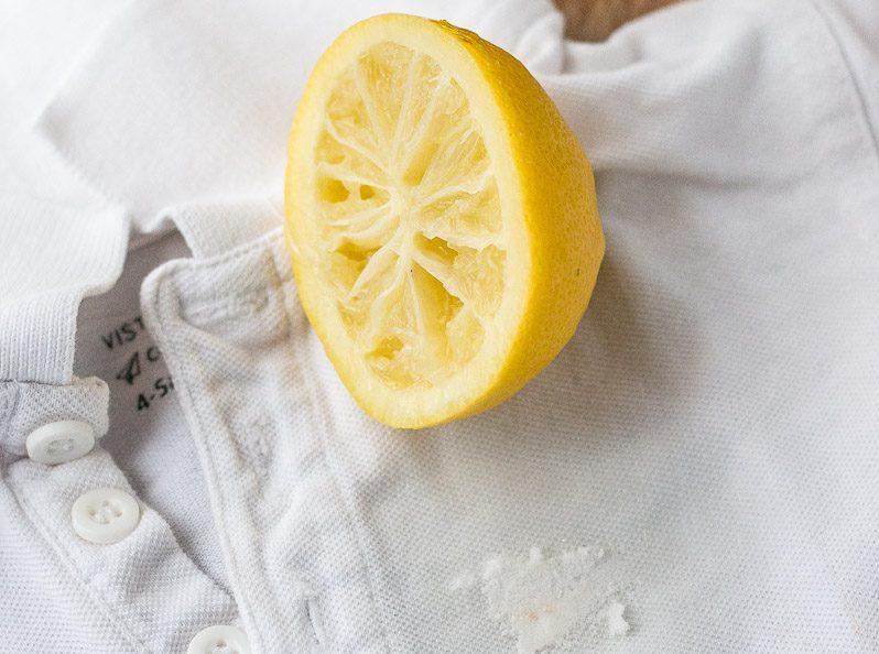чистка ткани лимоном
