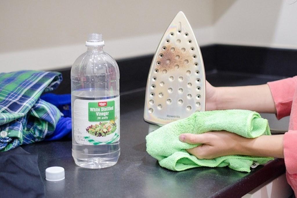 чистка утюга уксусом