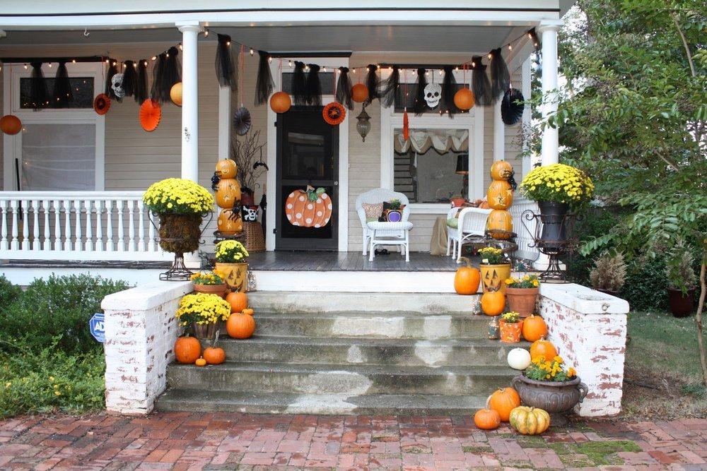 декор дома на хэллоуин фото