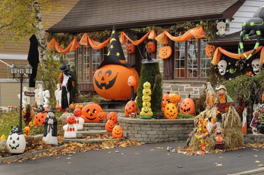 декор дома на хэллоуин идеи