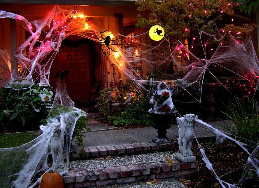 декор дома на хэллоуин оформление
