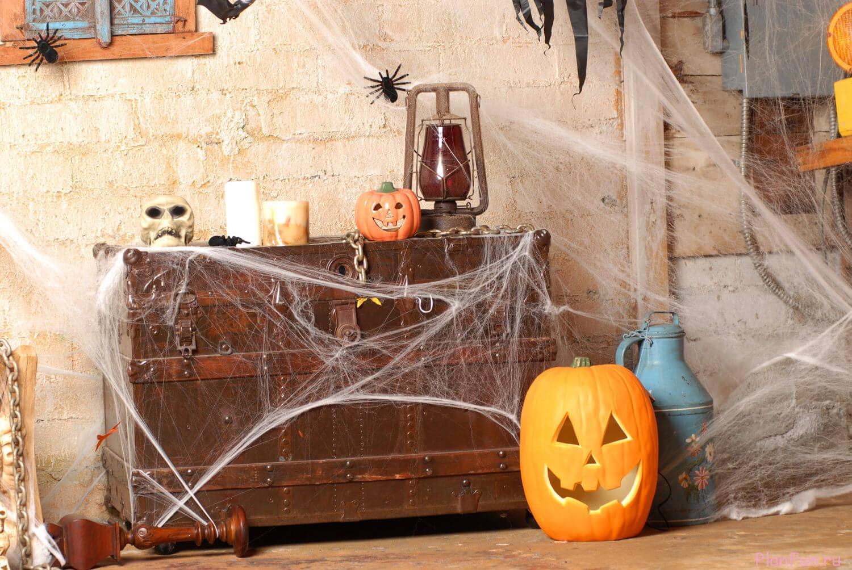 декор комнаты на хэллоуин фото