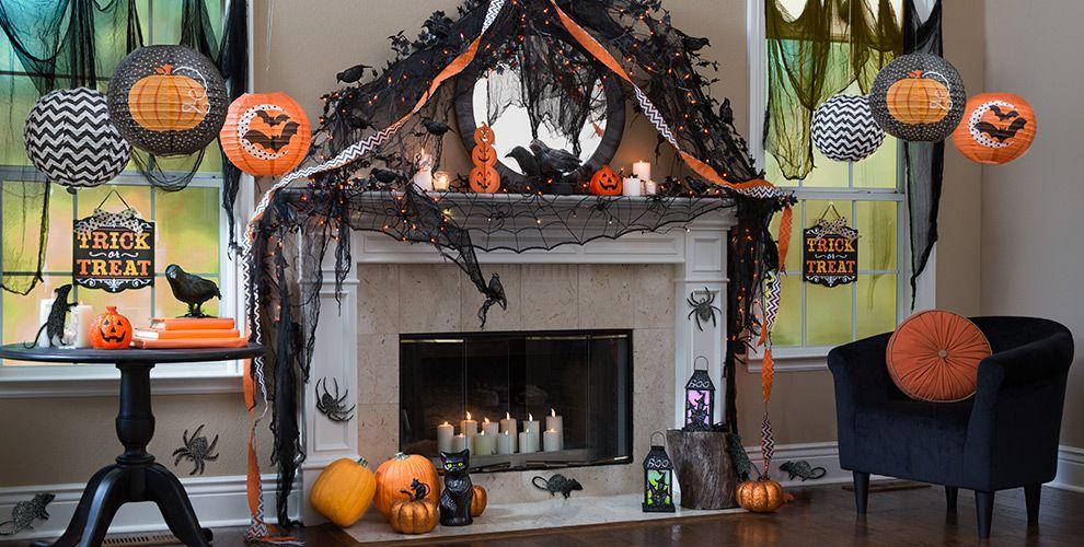 декор комнаты на хэллоуин