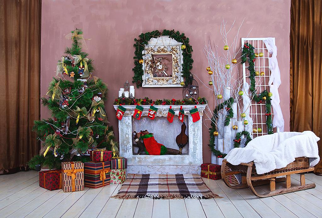 декор новогоднего камина