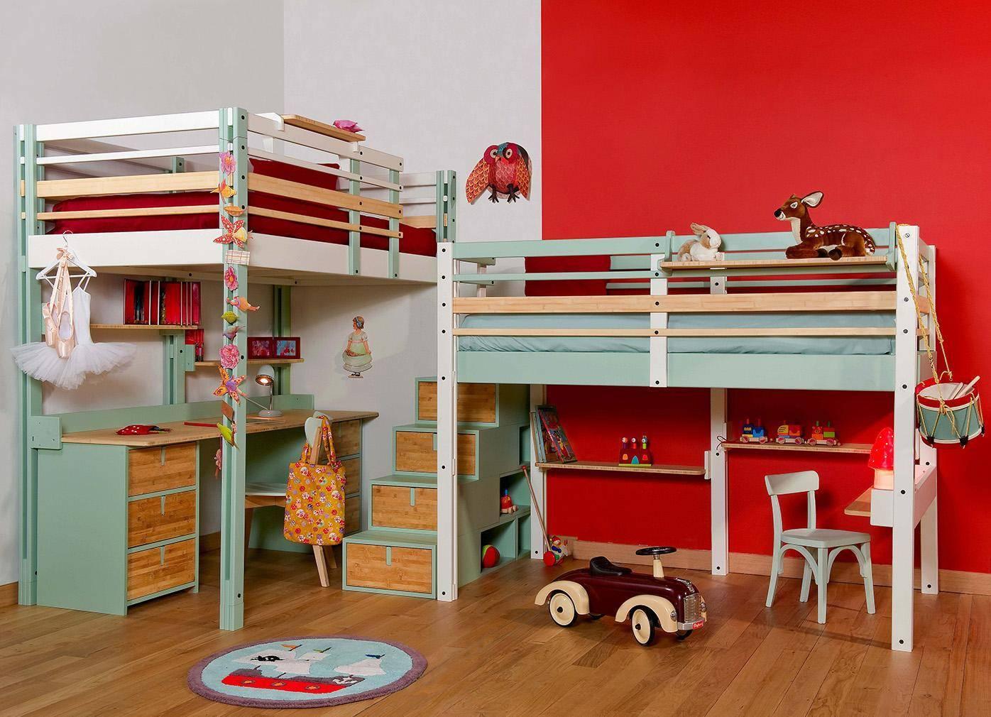 детская кровать чердак для двоих детей