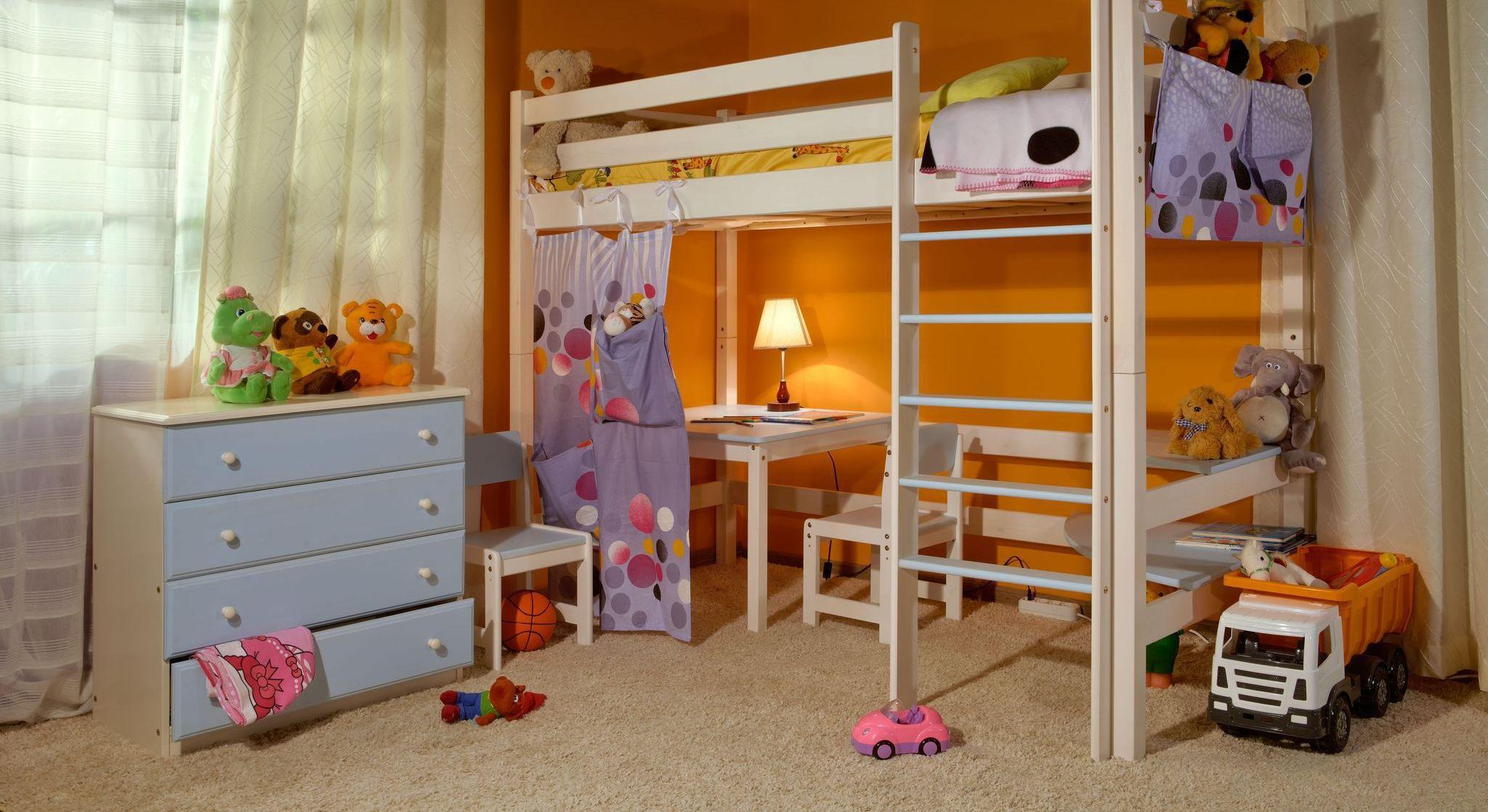 детская кровать чердак мдф