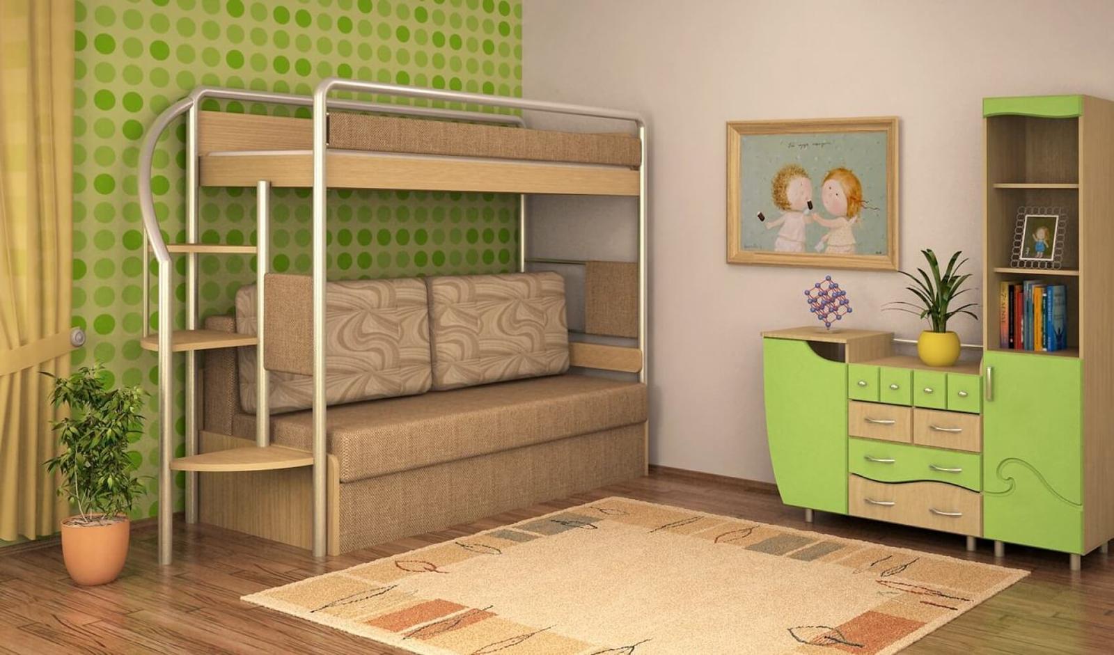 детская кровать чердак оформление