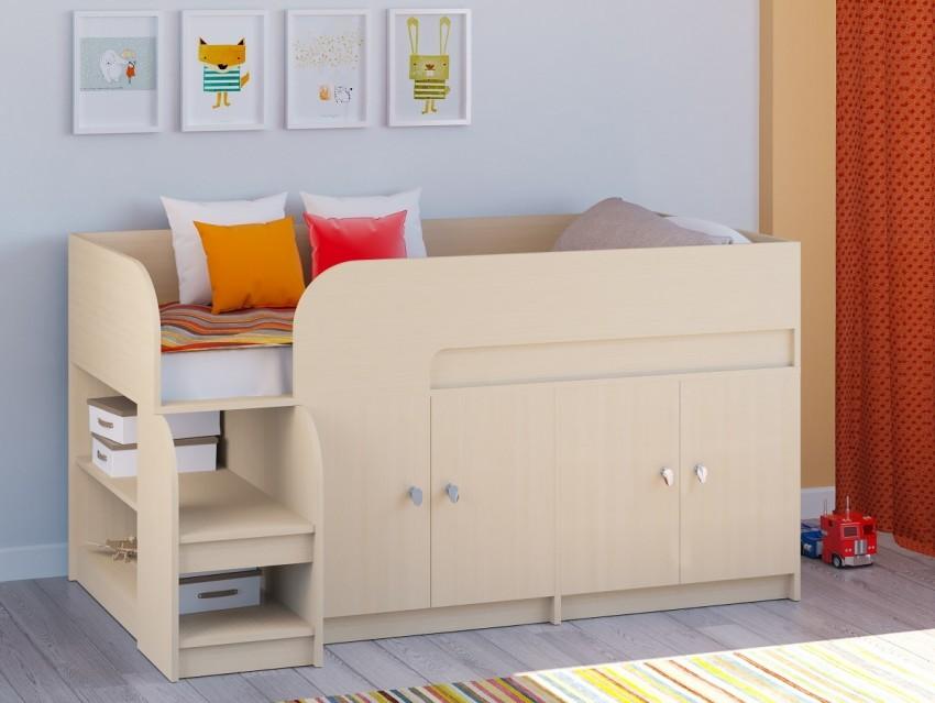 детская кровать чердак со шкафом