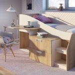 детская кровать чердак со столом фото дизайн