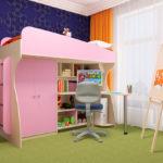 детская кровать чердак в комнате