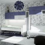 детская кровать трансформер декор фото