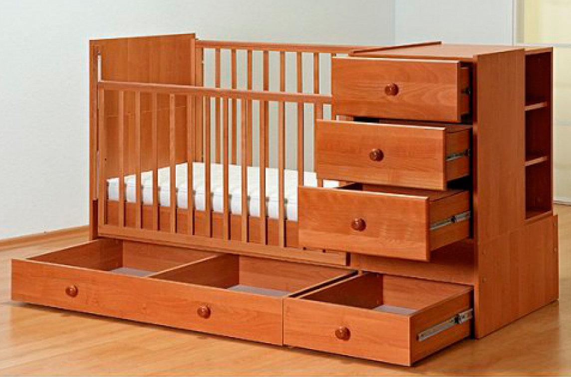 детская кровать трансформер из дерева