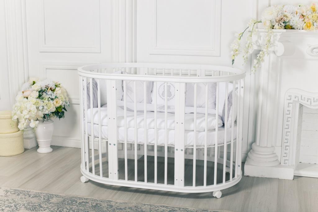детская кровать трансформер овальная