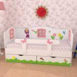 детские кровати с бортиками от 3 лет варианты фото