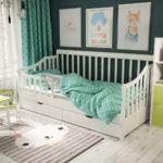 детские кровати с бортиками от 3 лет дизайн идеи