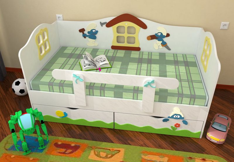 детская кровать с бортиками фото дизайна