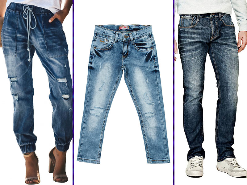 дырки и потертости на джинсах
