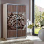дизайн шкафа-купе с тигром