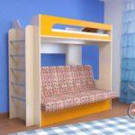 кровать-чердак с диваном купить