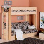 кровать-чердак с диваном в комнату
