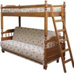 кровать-чердак с диваном из дерева