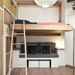 кровать-чердак с диваном для двоих