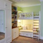 кровать-чердак с диваном мидым